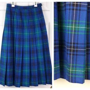Pendleton Virgin Wool Maxi Plaid Skirt Sz. 8